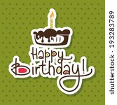 abstract happy birthday... | Shutterstock .eps vector #193283789
