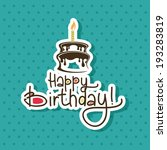 abstract happy birthday...   Shutterstock .eps vector #193283819