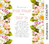 set of invitations with floral... | Shutterstock .eps vector #193284749