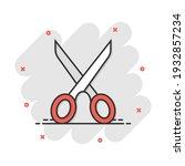 vector cartoon scissors icon in ...   Shutterstock .eps vector #1932857234