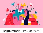overcoming breast cancer and... | Shutterstock .eps vector #1932858974
