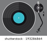 vinyl turntable  flat design | Shutterstock .eps vector #193286864