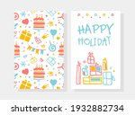 happy holiday card template ... | Shutterstock .eps vector #1932882734
