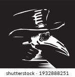 plague doctor with bird mask...   Shutterstock .eps vector #1932888251