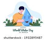 illustration world water day at ... | Shutterstock .eps vector #1932895487