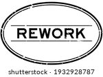 grunge black rework word oval... | Shutterstock .eps vector #1932928787
