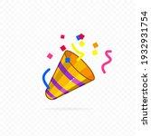 party popper icon. confetti... | Shutterstock .eps vector #1932931754