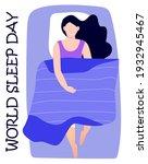 world sleep day concept vector. ... | Shutterstock .eps vector #1932945467