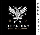 double headed eagle heraldry... | Shutterstock .eps vector #1932959021