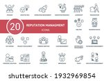 reputation management icon set. ...   Shutterstock .eps vector #1932969854