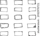 vector rectangular speech... | Shutterstock .eps vector #1932970721