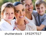 happy family closeup portrait... | Shutterstock . vector #193297517