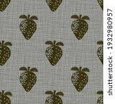 linocut print strawberries... | Shutterstock .eps vector #1932980957