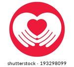 heart hand | Shutterstock .eps vector #193298099