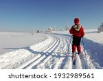 Young Girl Skiing In Norwegian...