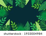 tropical background with jungle ...   Shutterstock .eps vector #1933004984