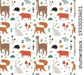 seamless pattern with cute...   Shutterstock .eps vector #1933033601