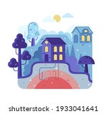 eco house with alternative... | Shutterstock .eps vector #1933041641