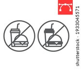 do not eat line and glyph icon  ... | Shutterstock .eps vector #1933045571