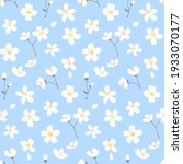 blue spring floral background... | Shutterstock .eps vector #1933070177