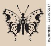 celestial moth line art...   Shutterstock .eps vector #1933072157