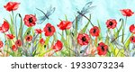 Watercolor Frame Of Red Poppy ...