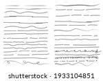 set of wavy horizontal lines.... | Shutterstock .eps vector #1933104851