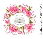 luxurious vintage card of color ... | Shutterstock .eps vector #193313615