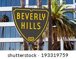 famous beverly hills sign in...   Shutterstock . vector #193319759