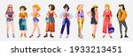 collection of stylish young... | Shutterstock .eps vector #1933213451