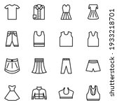 clothes icon set line style...