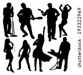 disco people silhouettes set | Shutterstock .eps vector #193322969