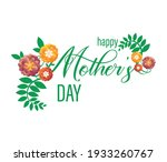 happy mothers day card with... | Shutterstock .eps vector #1933260767