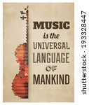 Typographic Poster With Violin...