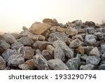 Piles Of Gravel Limestone Rocks ...