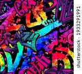 abstract bright graffiti...   Shutterstock .eps vector #1933291991