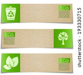 eco banners with green signs on ... | Shutterstock .eps vector #193330715