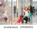 young mother and her daughter... | Shutterstock . vector #193330931