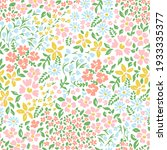 Vetor Seamless Floral Colorful...