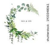 herbal vector frame. hand... | Shutterstock .eps vector #1933348061