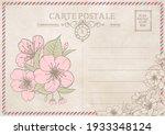 vintage postcard background...   Shutterstock .eps vector #1933348124