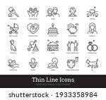 family  kids thin line icons.... | Shutterstock .eps vector #1933358984