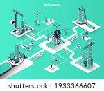 real estate isometric web...   Shutterstock .eps vector #1933366607