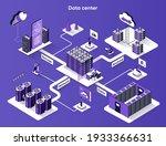 data center isometric web... | Shutterstock .eps vector #1933366631