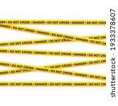 police tape  danger line....   Shutterstock .eps vector #1933378607