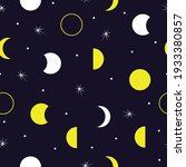seamless pattern of moon and...   Shutterstock .eps vector #1933380857