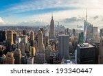 manhattan skyline at sunset ... | Shutterstock . vector #193340447