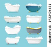classic freestanding bath with... | Shutterstock .eps vector #1933406681