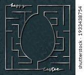 Happy Easter Square Silver Maze ...