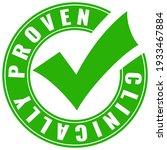 clinically proven green tick... | Shutterstock .eps vector #1933467884